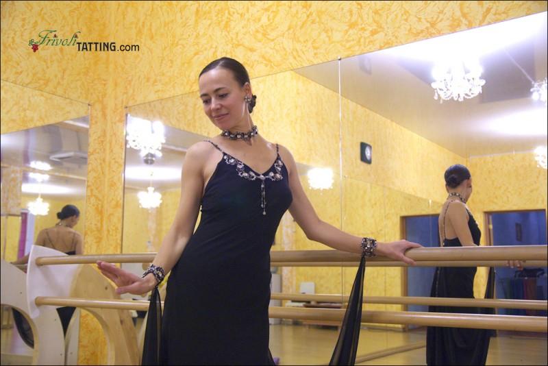 Фриволите в декорировании костюма для бальных танцев