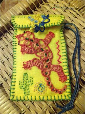 Сумочка для телефона, геккон