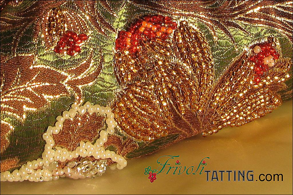 Сумочка для рукоделия, расшитая бисером. Handbag for handicraft embroidered with beads.