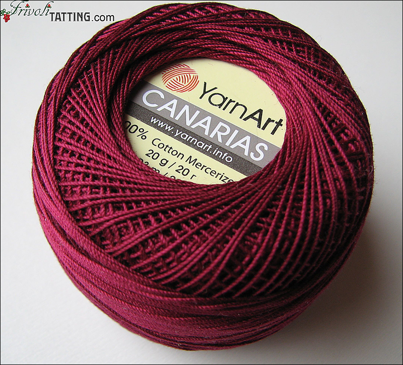 YarnArt Canarias нитки для фриволите tatting thread