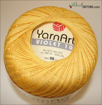 YarnArt Violet 10 as tatting thread нитки для фриволите