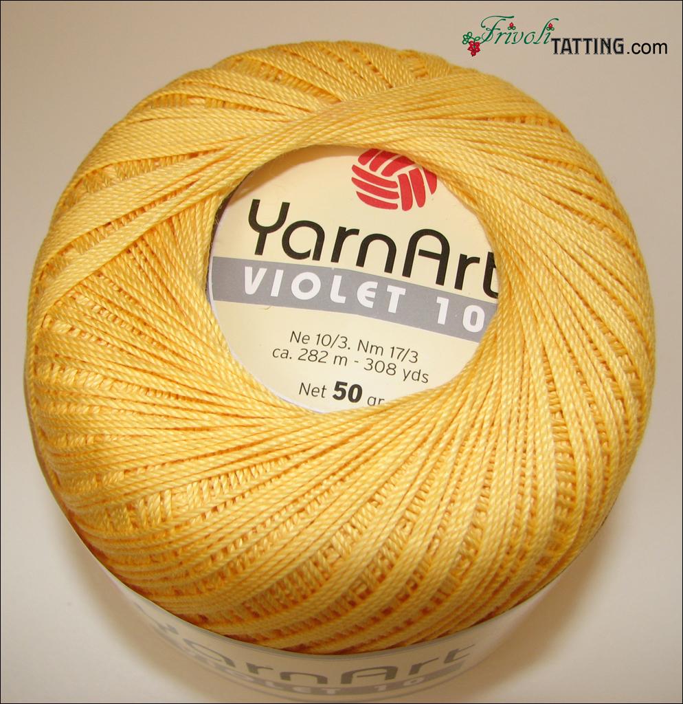 YarnArt Violet 10 as tatting thread нитки для фриволите