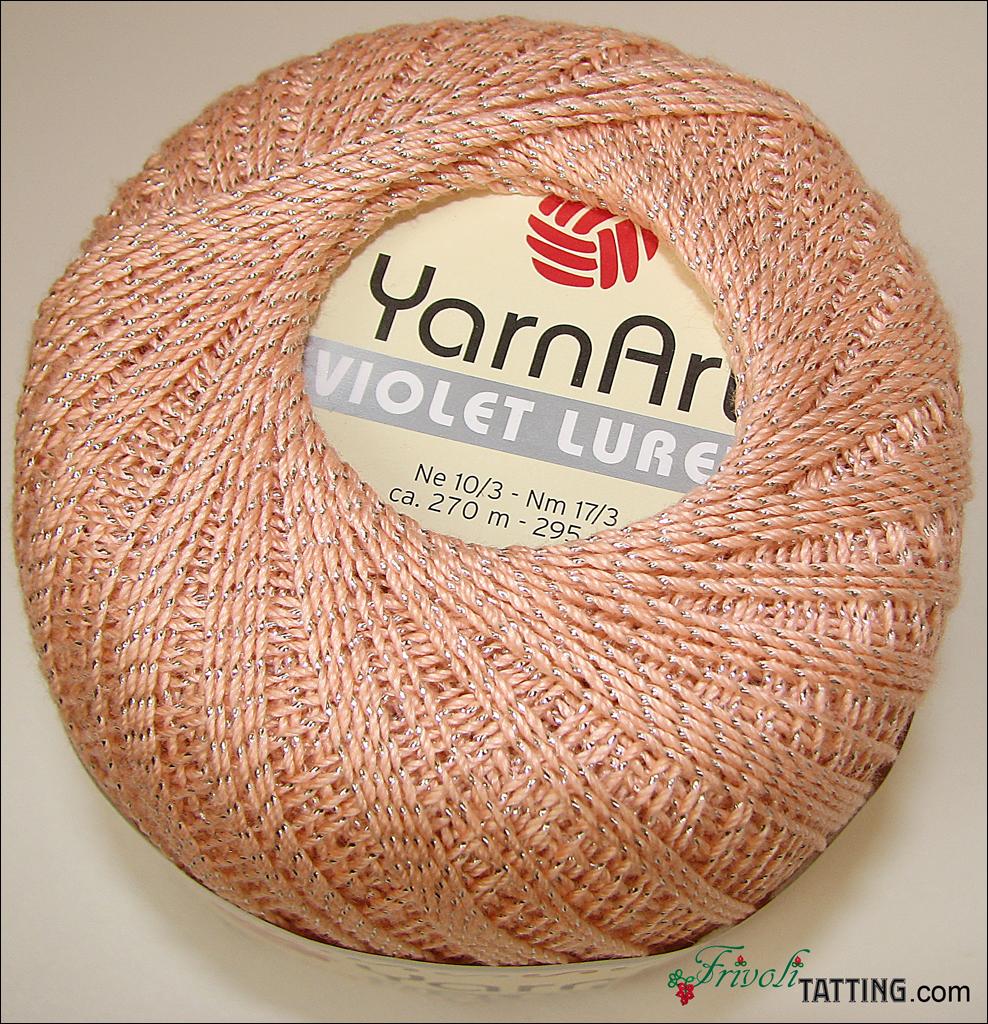 YarnArt Lurex нитки для фриволите tatting thread