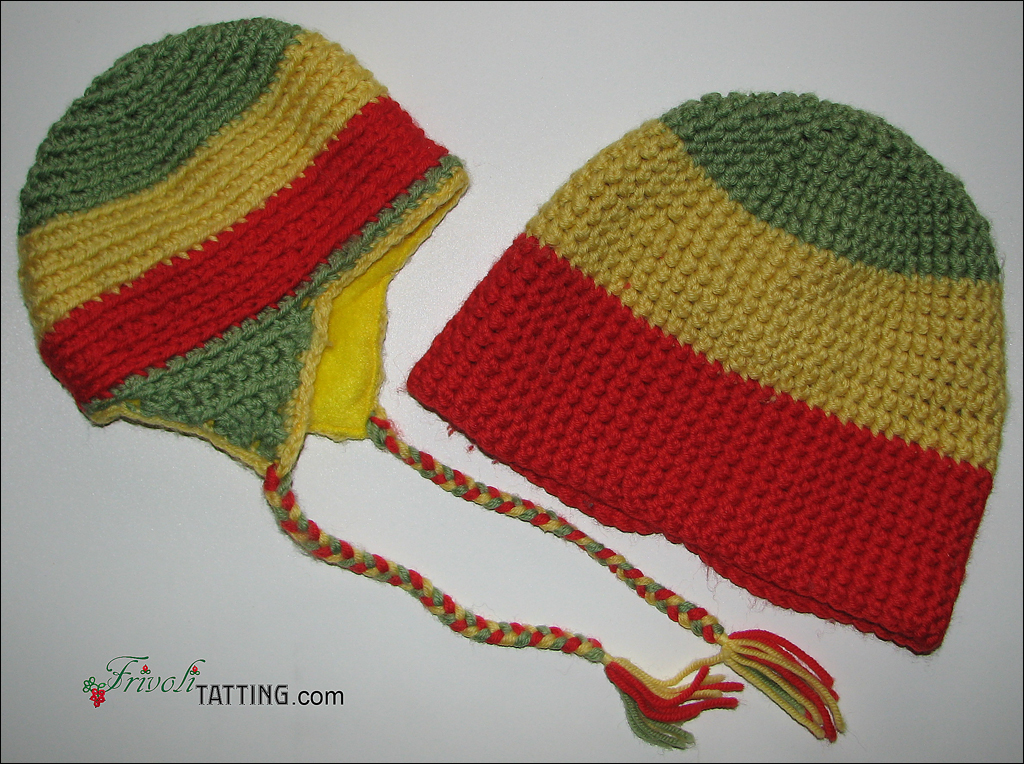 Knitted hats for baby and daddy. Вязаные шапки для малыша и папы
